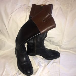 Enzo Angiolini color block knee high boots!